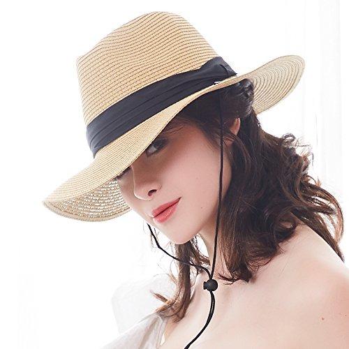 4f727f51b64f7 Furtalk Panama Roll Up Sombrero Fedora Beach Sun Hat Upf5 ...