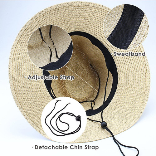 dec679496895a Furtalk Panama Roll Up Sombrero Fedora Beach Sun Hat Upf5 - S  124 ...