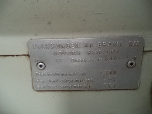 fusca 1.300 gasolina 1973 /1973 branco placa preta certifica