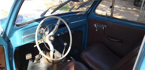 fusca 1963 azul 1500 com radiador de óleo sport system