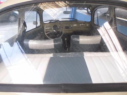 fusca 1964 bege, p/ colecionador, placas pretas, raridade.