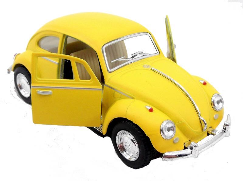ce9ce19965 Fusca De Metal Amarelo Fosco 1967 1 32 Volks Miniatura - R  28