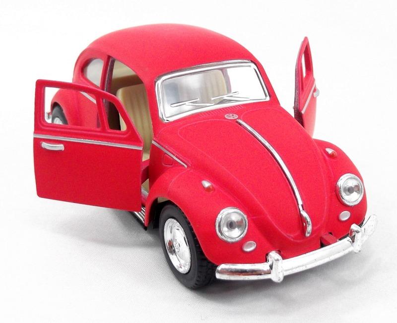 8054f7cdee Fusca De Metal Vermelho Fosco 1967 1 32 Volks Miniatura - R  28