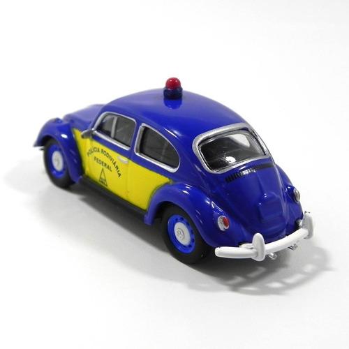 fusca vw classico policia rodoviaria 1:64 miniatura metal