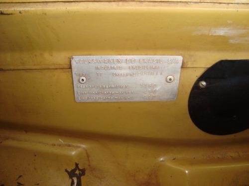 fuscão 1500 - 1972 - maravilhoso placa preta