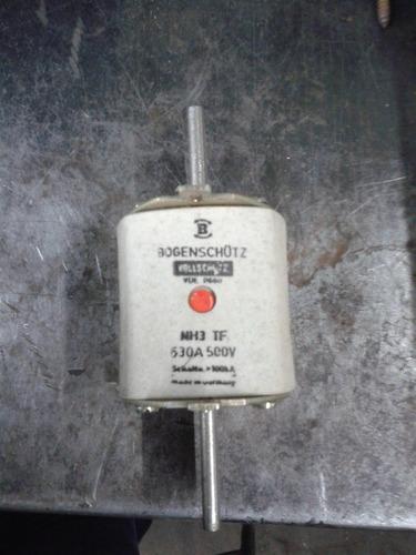 fusible industrial nh 630amp. x 500v. por unidad.