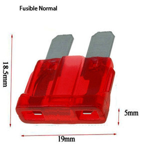 fusible moto normal 19x18.5x5mm 25a x10u e2523