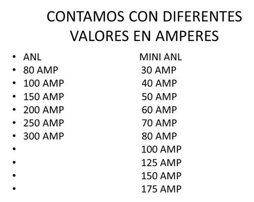 fusible para distribuidor corriente d amplificador tipo anl