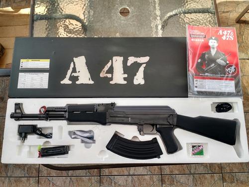 fusil airsoft ak 47, metal, automático, 430fps nuevos