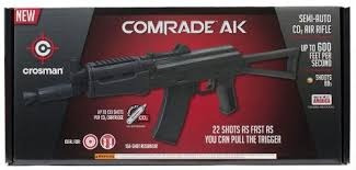 fusil ak comrade crosman co2 balines de acero + bb + co2