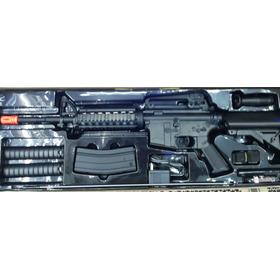 Fusil M4 Cqb Electrico Metal Gear Box Rifle Lancer T.