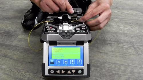 fusion de fibra optica armado de conectores