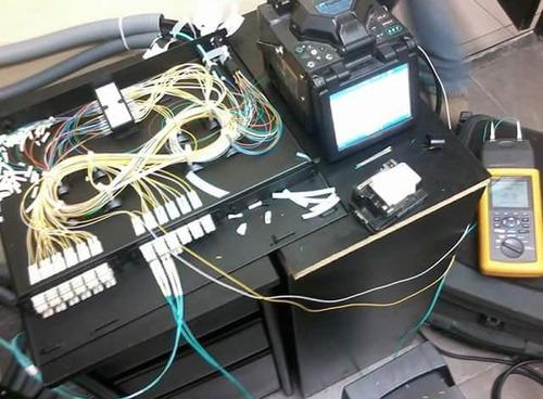 fusión de fibra óptica, certificación cat 6a, medición otdr