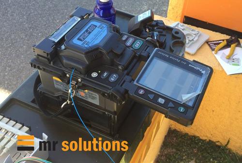 fusión fibra óptica - empalme - instalación - reparación