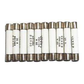 Fusivel Ceramico 6x30mm Para Microondas 20aa Com 10 Unidades