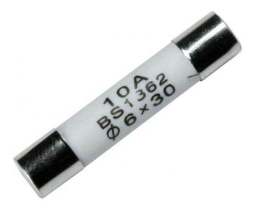 fusível cerâmico 10a p/microondas pct c/4 peças 6x30mm