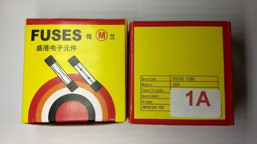 fusível de vidro 1a 250v 5x20 caixa 100peças