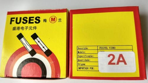 fusível de vidro 2a 250v 5x20 caixa 100peças