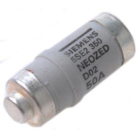 Fusivel Neozed 50a D02 5se2 350 Siemens ( Emb. 10pç )