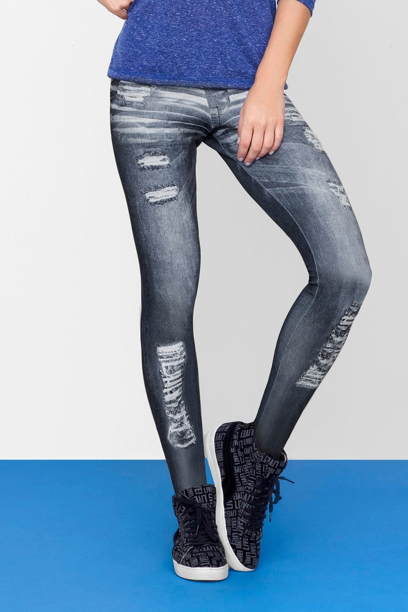 cb8ed0f2997a6 fuso jeans live neo denim grossa inverno legging jeans fake. Carregando  zoom.