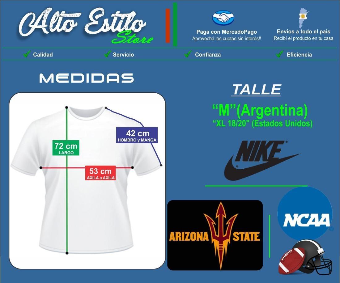 Camiseta Futbol Americano Universidad Arizona State Talle M -   799 ... 0063573f853