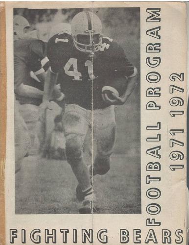 futbol americano guia de prensa colegio americano 1971