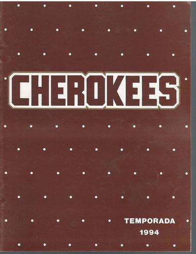 futbol americano guia de prensa de cherokees 1994