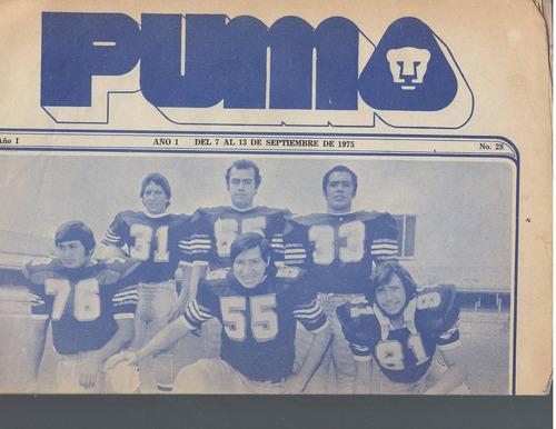 futbol americano periodico puma 1975 no 28