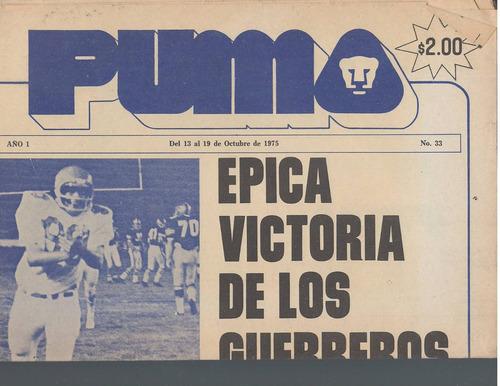 futbol americano periodico puma 1975 no 33