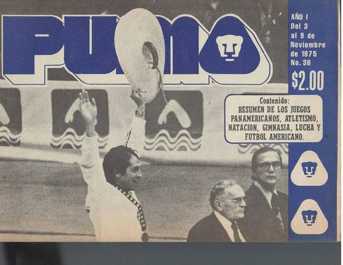 futbol americano periodico puma 1975 no 36