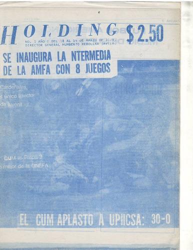 futbol americano revista holding 1978 no 1