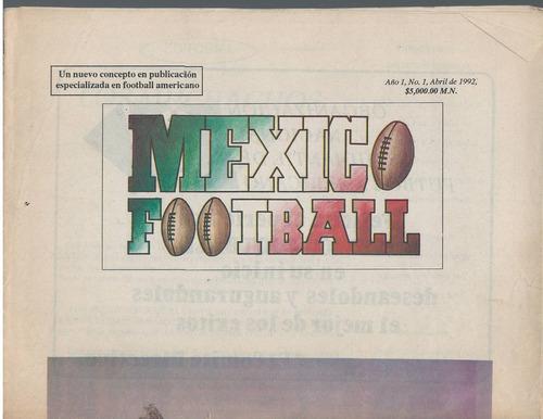futbol americano revista mexico football abril 1992