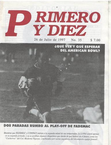 futbol americano revista primero y diez no 35