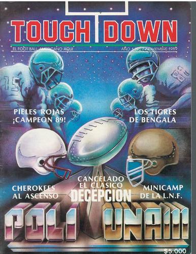 futbol americano revista touchdown noviembre 1989