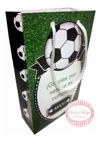 futbol bolsita golosinera imprimible personalizada candy bar