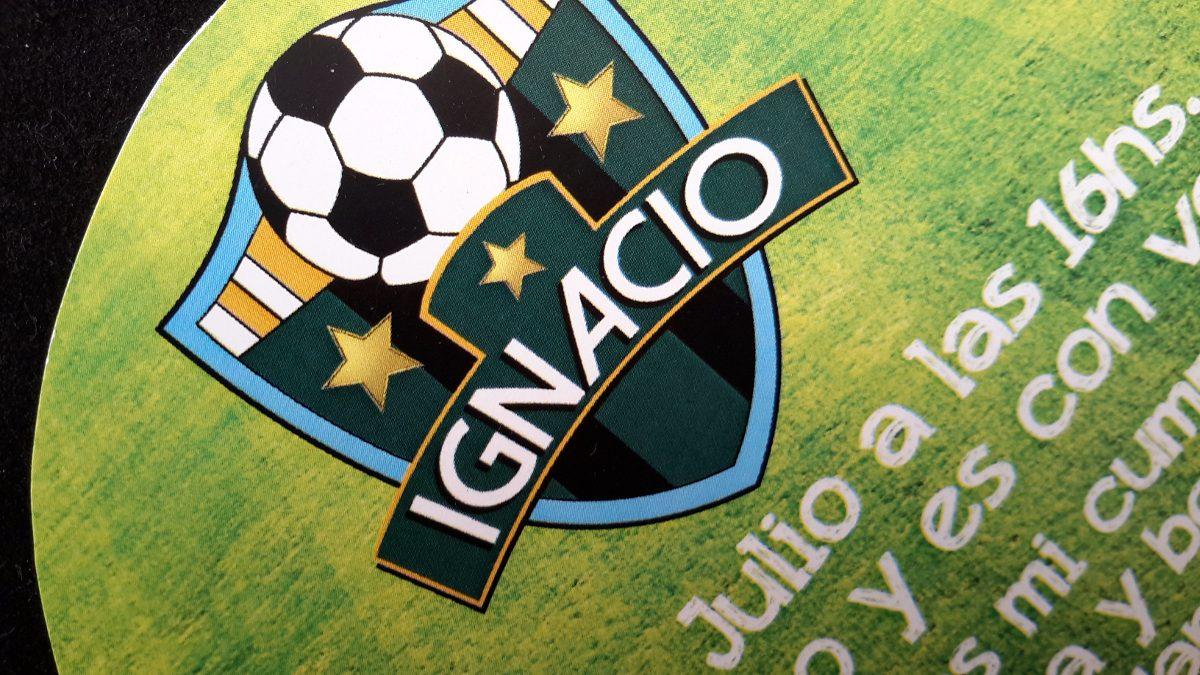 Futbol Entrada Independiente Tarjeta Cumpleaños Invitaciones