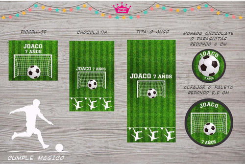futbol golosinas personalizadas etiquetas candy bar x100