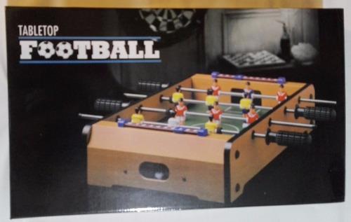 fútbol metegol de mesa de madera maciza y caño 51x31x10 cm