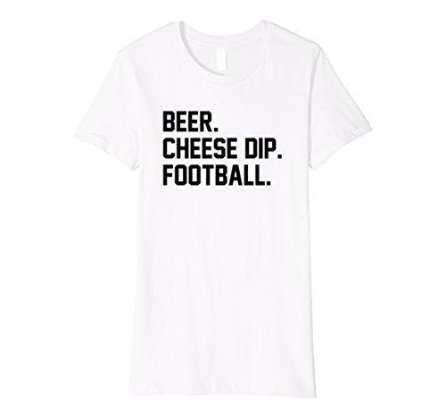 Fútbol 135 Queso Mujer Camiseta Salsa 921 D Medio Blanco Cerveza r8rwPqT
