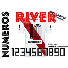 b4edfd3abde0c Numero Para Estampar River Plate Vinilo Termo Zona Norte