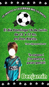 Futbol Pelota Invitación Tarjeta Digital Imprimible Whatsapp
