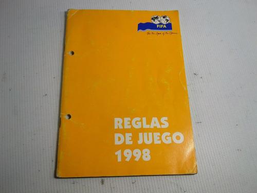 futbol reglas de juego fifa1998