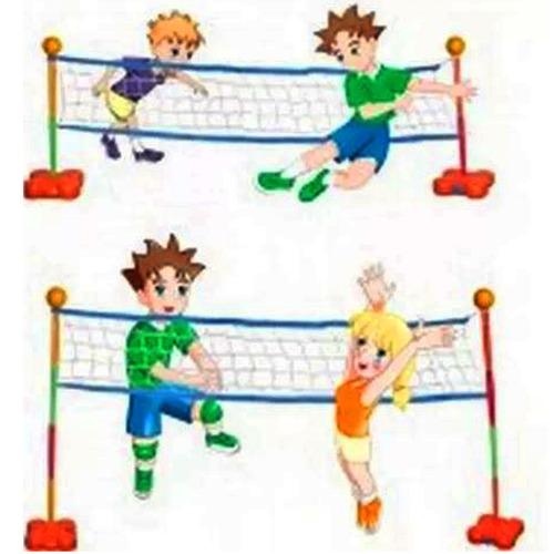futbol tenis y voley juegosol 2 en 1 red de 2,5mt