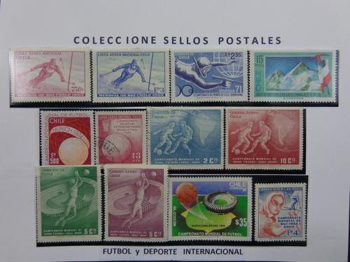 fútbol y deporte internacional - 12 sellos