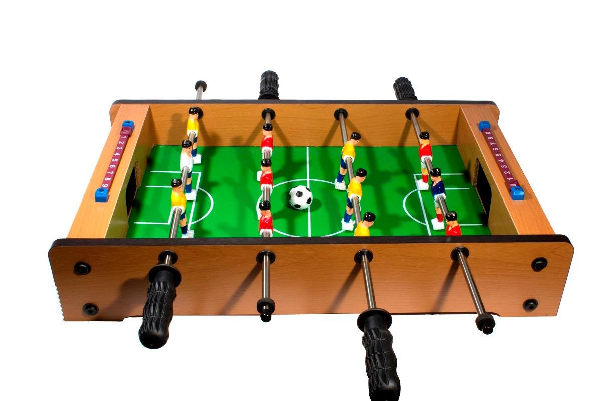 Futbolito de mesa para 2 jugadores incluye 2 balones for Mesa futbolito