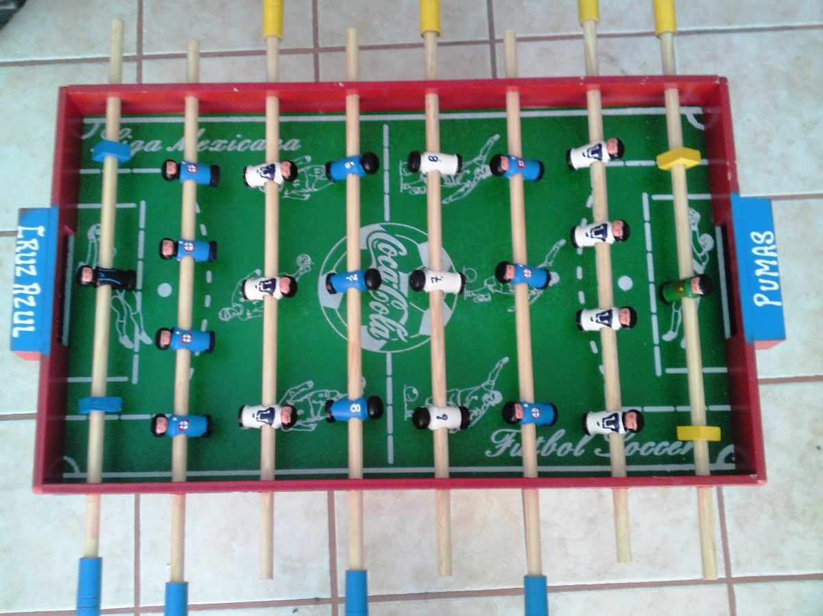 Futbolito de mesa soccer madera equipos primera for Mesa futbolito
