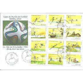 Futebol 2014 Copa Do Mundo Arte Série Cpl Curitiba Fdc