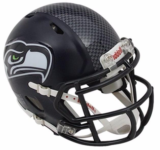 07bb72c5466bd Mini Capacete Futebol Americano Nfl - Seattle Seahawks - R  280