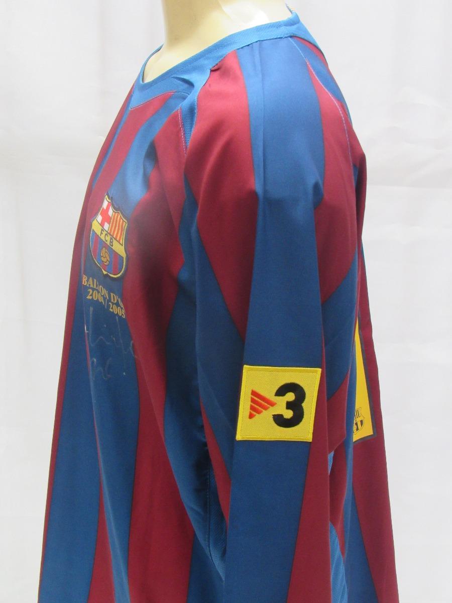 a9f637632d Camisa Futebol Barcelona Espanha  10 Ronaldinho Manga Longa - R  339 ...
