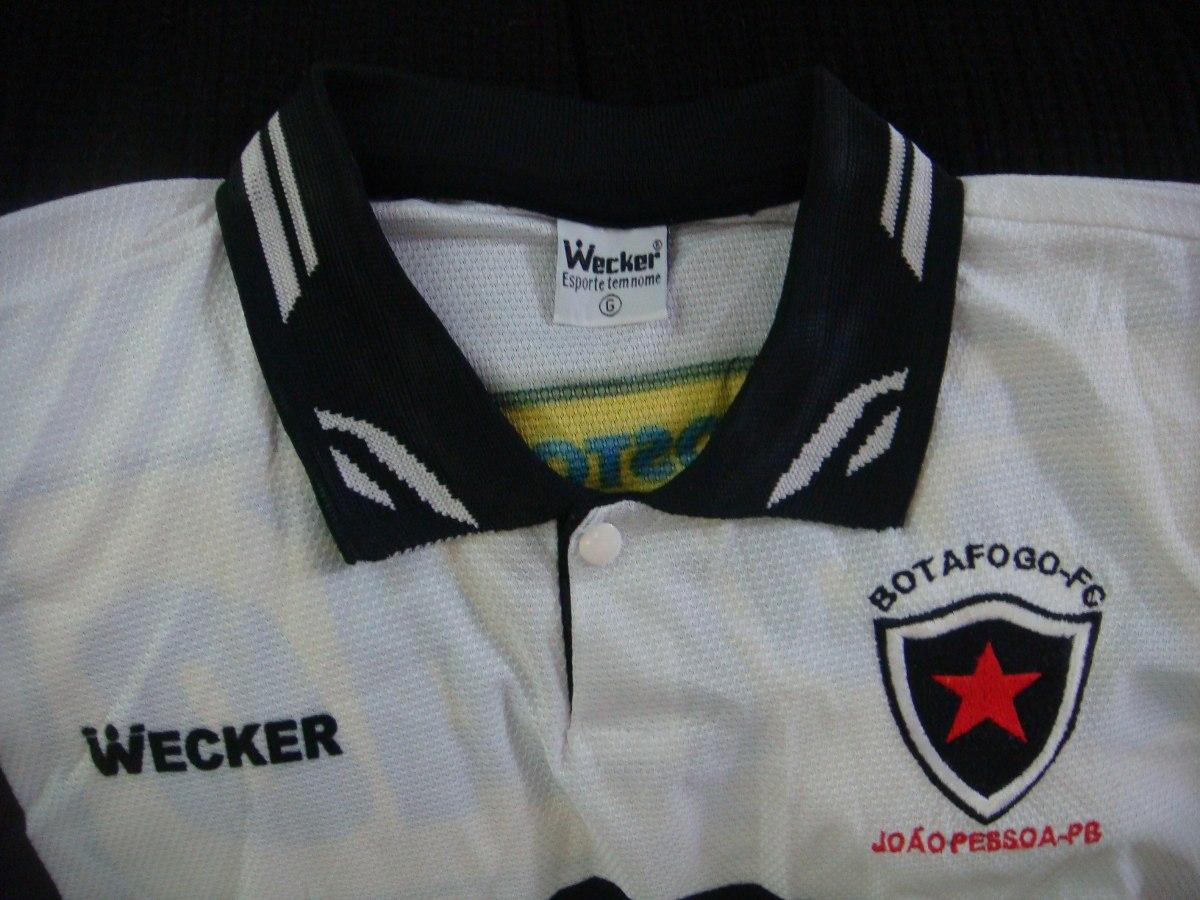 Camisa Futebol Botafogo João Pessoa Pb Wecker Antiga 1086 - R  399 ... 74ef6479c8f87